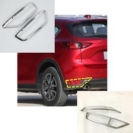 accesorio para mazda cx5. Rebajas Coche ABS cubierta de cromo recortar trasera trasera luz antiniebla marco de la lámpara etiqueta adhesiva accesorio 2 unids Para Mazda CX-5 CX5 2nd Gen 2017 2018