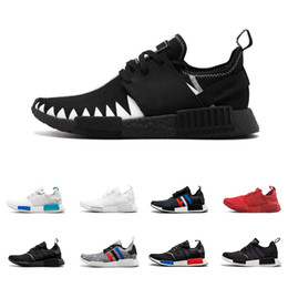 Wholesale Red Canvas Lace Up Shoes - NMD Runner OG R1 Primeknit Triple black White Red Blue Running shoes For Men Women Beige OREO NMD Runner Sports sneaker 36-45