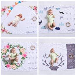 Wholesale Print Backgrounds - 102*76cm infant floral Photography background Blankets printed props newbor Baby Blanket INS Kids Blanket baby Blankets Swaddling FFA362