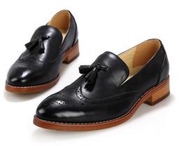 Wholesale Vintage Brogues - Fashion Men Brogues Men Shoes Moccasins Casual Men Shoes Flats Slip On Vintage Tassel Leather Shoes