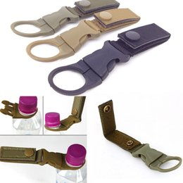 Wholesale military clips - 14.5*2.5cm Military Nylon Webbing Buckle Hook Water Bottle Holder Clip EDC Climb Carabiners Belt Backpack Hanger