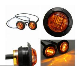 2019 24v led luces de liquidación Camión LED 10X Ámbar Rojo 12V 24v 3/4 \