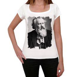 Canada Johannes Brahms Tshirt, Tshirt de vieilles célébrités, Tshirt Femme Blanc, Cadeau Vente pas cher 100% coton T Shirts Pour Garçons Offre