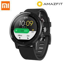 2019 montres gps tactile Version originale anglaise Xiaomi HUAMI AMAZFIT Stratos GPS Montre de sport intelligente 2 Version 5ATM étanche Écran tactile Montre Homme montres gps tactile pas cher