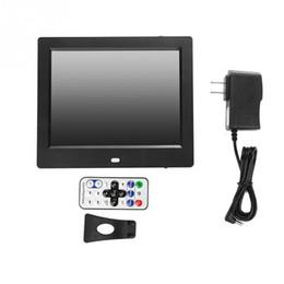 Киноэкраны онлайн-110-220V 8inch HD Photo Frame LED Screen Цифровая фоторамка MP3/4 Movie Player
