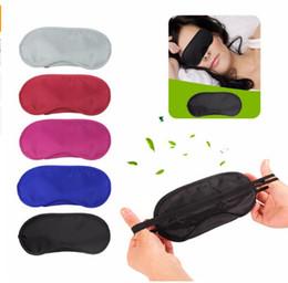 Augenjalousien online-New Travel Maske Schlaf-Rest-Augen-Farbton-Abdeckung Comfort Blinder Falten Schild Freies Verschiffen