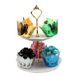 Argentina Venta al por mayor 120 unids Plumas Cupcake Wrappers Cup cake Muffin Paper Wrapper Fiesta de Cumpleaños de Boda de Navidad Decoración Del Hogar Suministros Suministro