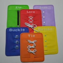 образовательный английский планшет Скидка Новый горячий продавать дети обучение доска образование игрушка Zip Snap шнуровка пряжки кнопка галстук обучения раннего образования учебные пособия