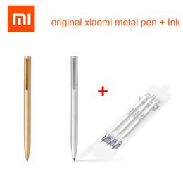 giappone nero metallo Sconti Originale Xiaomi Mijia smart metallo oro argento penna inchiostro Giappone durevole firma penna PREMEC liscia Svizzera MiKuni nero ricarica