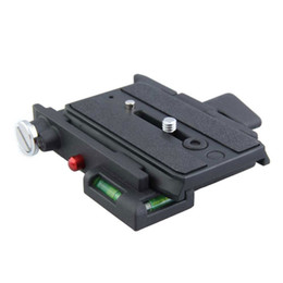 Wholesale quick release mount plate - Quick Release Adapter with Short Sliding Plate Camera Mount For Gioos (Black)