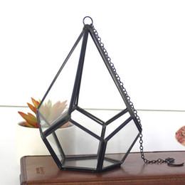 16 * 23 cm In Miniatura Vetro Terrario Diamante Geometrico Tavolo Da Tavolo Da Tavolo Succulente Felce Muschio Pianta Bonsai Vaso di Fiori WX9-679 da