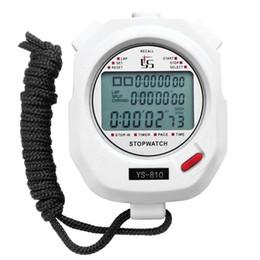 temporizador de funcionamiento Rebajas Temporizador portátil de mano Cronómetro digital Multifuction Profesional Deportes al aire libre de interior Funcionamiento Entrenamiento Temporizador Cronómetro