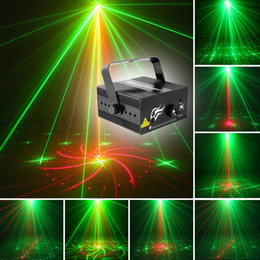 Wholesale Led Bar 18 - Mini Size 2 Lens 18 Patterns RG BLUE LED Stage New Year Christmas Laser Lighting Projector Party Bar DJ Disco Light (US and EU)