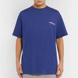 18SS Hommes Femmes Été Street T Shirt De Mode Europe Amérique Designer Logo Imprimer Manches Courtes Respirant Casual Couleur Unie Tee HFYMTX185 ? partir de fabricateur
