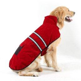 Grandi giacche per cani invernali online-Big Medium Dog Clothes for Golden Retriever Cani Large Size Winter Dogs Pet Puppy Coat Jacket Felpa Abbigliamento Abbigliamento per cani Abbigliamento sportivo