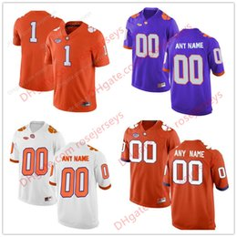 Wholesale Purple Custom - Custom Clemson Tigers College Football Limited white purple orange Personalized Stitched Any Name Number #2 13 9 Etienne Watson Jersey S-3XL