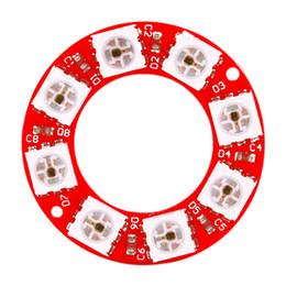 Tarjeta de pcb color online-KEYES WS2812 8bit Full Color RGB Module Circular Board (PCB rojo)