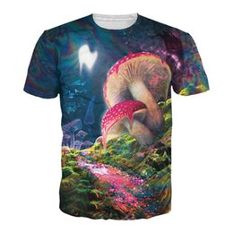 Wholesale Psychedelic Shirt Men - Plus Size 6XL Bad Trip T-Shirt Psychedelic Vision Of A Melting Mushroom Tees Men Women 3D Print Fashion Colorful T Shirt Tops