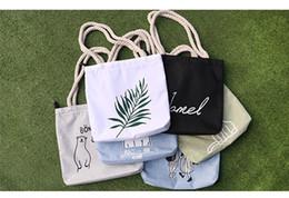 Wholesale Art Canvas Letters - Canvas single shoulder bag, simple art bag, handbag, cross-body bag, canvas bag shopping bag.