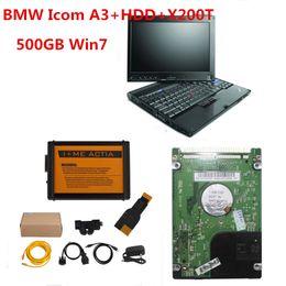 laptop bmw Desconto Chegada nova Para BMW ICOM A3 Ferramenta de Programação de Diagnóstico Atualização Versão para ICOM A2 V2018.03 icom com Laptop X200T
