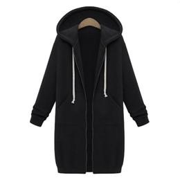 2018 Cardigan sudadera Harajuku mujeres sudaderas con capucha larga con cremallera sudadera con capucha otoño invierno abrigo prendas de vestir exteriores informal para mujer chaqueta de descuento desde fabricantes