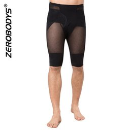 Wholesale Men See Pants - Men Mesh Butt Lift Shapewear See Through High Elasticity Tummy Control Shaper Breathable Compression Legging Tights Pants