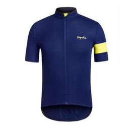 Wholesale Newest Clothes - RAPHA team Cycling Short Sleeves jersey Newest Summer Cycling Shirt Bicycle Clothes High Perfomance Cycling Tops c1434