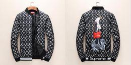 Wholesale Goose Down Women - 2017 new autumn winter Medusa men women coats, men's young American leisure jacket, 3D letter printing Star money fashion thin zipper G coat