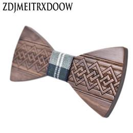 2019 grossistes cravates pour hommes bowties ZDJMEITRXDOOW En Bois Bowknot Noeud Papillon Hommes Mâle Fête de Mariage Chinois Envie Bois Papillon Cou Bow Tie Gravata