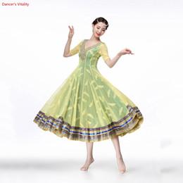 2018 YENI Işık Waltz rekabet Elbise Rumba Standart Pürüzsüz Balo Elbise Elbise Balo Salonu Dans Yarışması Dans nereden