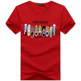 Schuhe männer xl online-2019 designer t-shirt herren luxus top qualität neue mode flut schuhe gedruckt männer t-shirts tops männer t-shirt mehrere farbe wählbar