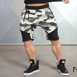 Шорты тренировочные мужские онлайн-SJ Camouflage Men's Short Trousers 2016 Casual Calf-Length Jogger Mens Shorts Sweatpants Fitness Man Workout Cotton Shorts