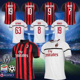 18 19 Season FC AC Milan Jersey Men 7 Champions Soccer 9 HIGUAIN 10  CALHANOGLU BONAVENTURA CUTRONE ANDRE SILVA Football Shirt Kits Uniform f1252a6813cdb