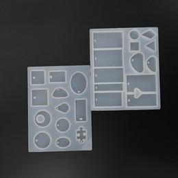 Moda Scrapbooking Silikon DIY Reçine Dekoratif Craft Takı Kalıpları Kolye Yapımı Aracı Toptan 2 Parça Kalıpları nereden döşeme araçları tedarikçiler