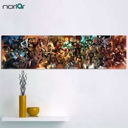 Arte lunga parete online-HD Stampato Super Long Picture Marvel Comics Personaggi Canvas Painting The AVENGERS Supereroe Wall Art Poster Pittura NO Cornice Y18102209