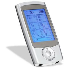 Unidad estimuladora online-16 modos de pulso electrónico masajeador alivio del dolor unidad TENS máquina estimulador muscular electro terapia dispositivo de masaje corporal