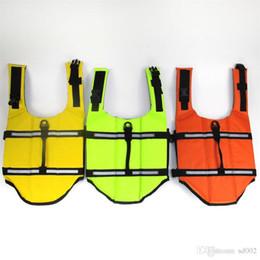 bambusjacke Rabatt Breathable Mesh Eco Freundliche Kleidung Haustier Hund Badeanzug Schwimmweste Sommer Trainingskleidung Kann Reflektor Polyesterfaser Viele Farben 27bn ZZ