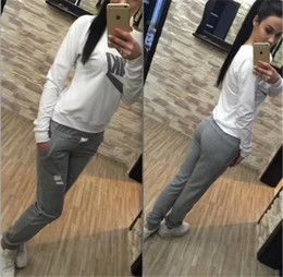 Wholesale Women S Velour Sportswear - New fashion Leisure Sports Clothing Lady Sportswear Women Suit Set Fashion Female Girls Clothes Girls Long-Sleeved Casual Suit