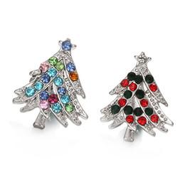 Um sentido natal on-line-10 Pcs 2 cores de cristal presente da árvore de natal 18mm botão de pressão relógios de pulso para as mulheres charme jóias DIY pulseira de uma direção