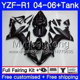 Corpo + serbatoio per YAMAHA YZF R 1 YZF-1000 YZF 1000 YZFR1 04 05 06 232HM.0 YZF1000 YZF-R1 04 06 YZF R1 2004 2005 2006 Carena Fabbrica nero lucido da