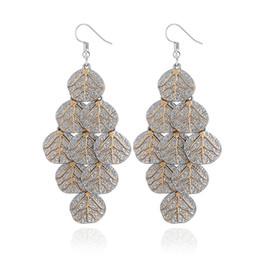 Wholesale Leaf Cuff Earrings - Europe The United States Fashion Multi-leaf Earrings Personalized Metal Earrings