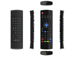 Argentina 2.4G Controles remotos inalámbricos MX3 Fly Air Mouse Keyboard para Android TV box MXQ M8S Mini PC Suministro