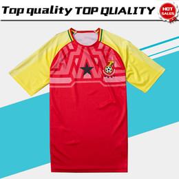 Jersey amarillo rojo online-2018 Ghana Soccer Jersey Ghana equipo de fútbol nacional Home soccer Shirt 2018 Red Yellow football uniforme de ventas