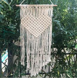 decorações hippie Desconto Artesanal de tricô Boêmio Tapeçaria Tapeçaria Tapeçaria Tapeçaria Tapeçaria Para Casa Decoração Suprimentos Venda Quente 21 5 cm CB