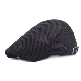 Wholesale cap network - Lace Men Sun Hats Caps Travel Cool Breathable Shade Berets Hats for Men Network Male 2018 New Summer High Quality