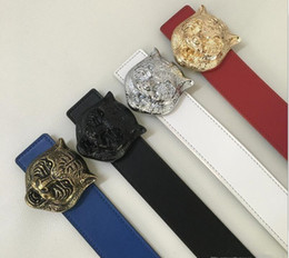 Wholesale mens waist belts - belt Brand designer belt mens senior tiger head belts new fashion luxury belt casual cowhide belts for men women waist belts men leather