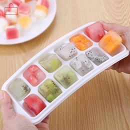 Wholesale Home Molds - 21 Grids Rectangular Ice Maker Cube Tools With Cover Large Formas Gelados Ice Cube Molds Tray For Home Bar Party Drink