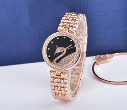 2018 новый бренд лебединые часы горячие продажи мода женщины наручные часы AAA таблица кварцевые часы повседневная женские часы роскошные часы платье топ AAA часы от