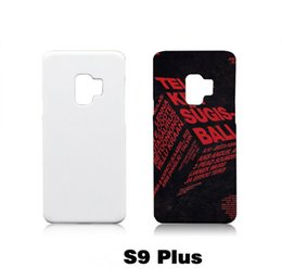 Wholesale Phone Blank Case - For Samsung S9 S9 plus 3D DIY Blank Sublimation Phone case Hard Plastic White Smooth Cover Full Area Printed For iphone Samsung models