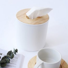 Wholesale roll paper racks - Paper Rack Car Home Round Shaped Tissue Box Container Towel Napkin Tissue Holder Home Organizer Decoration